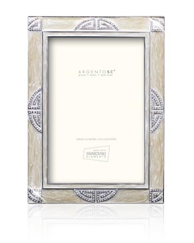 """Swarovski by Argento SC Embassy Picture Frame, Ivory, 4"""" x 6"""""""