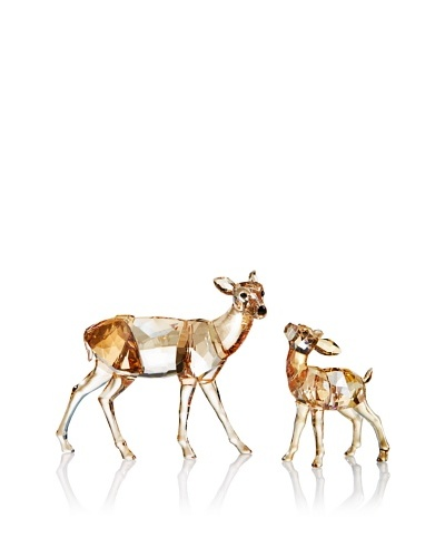 Swarovski Crystal Doe & Fawn Golden Shadow, 11.75x4.1x5.75