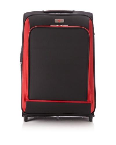 Swiss Legend Unisex 24 Expandable Wheeled Upright, Black/Red, One Size