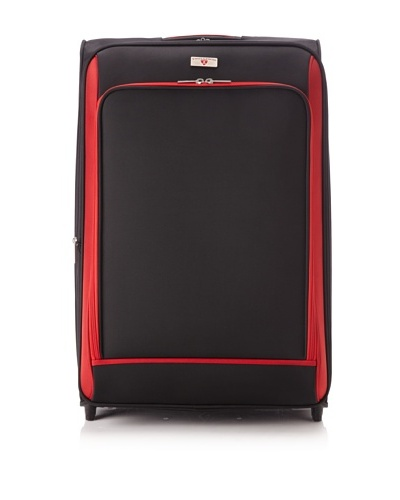 "Swiss Legend Unisex 28"" Expandable Wheeled Upright, Black/Red, One Size"