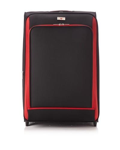 Swiss Legend Unisex 28 Expandable Wheeled Upright, Black/Red, One Size