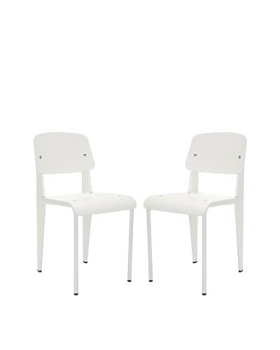 Safavieh Set of 2 Nembus Side Chairs, White
