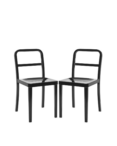 Safavieh Set of 2 Kastra Side Chairs, Black