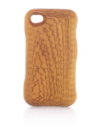 Real Wood iPhone 4/4S Case, U-Shaped Knife, Japanese Yew