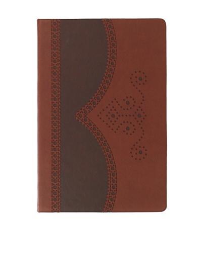 Ted Baker Brown Medium Brogue Notebook
