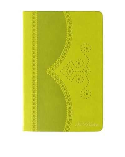Ted Baker Green Brogue Notebook Medium, Green