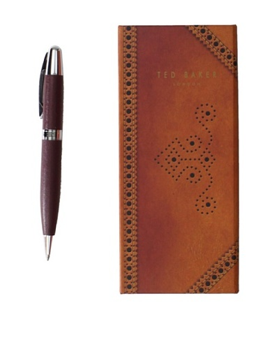 Ted Baker Brown Pen in Brogue Box