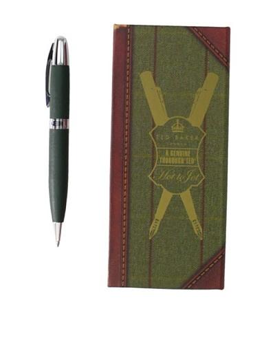 Ted Baker Green Pen in Tweed Box