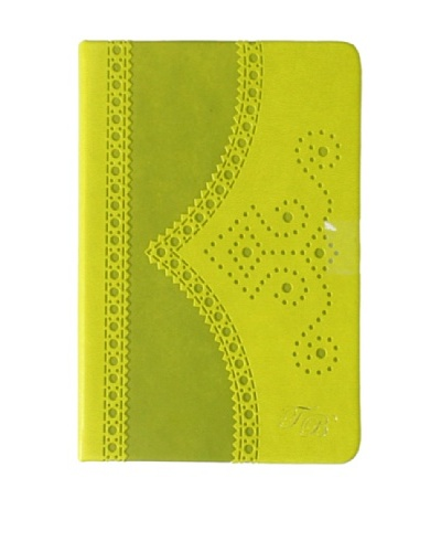 Ted Baker Green Small Brogue Notebook