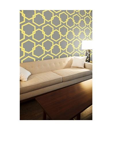 Tempaper Designs Honeycomb Self-Adhesive Temporary Wallpaper [Citron]