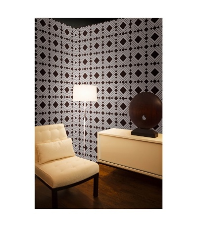 Tempaper Designs Diamond Self-Adhesive Temporary Wallpaper [Chocolate]