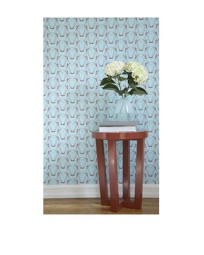 Tempaper Designs Alto Self-Adhesive Temporary Wallpaper [Caribbean Blue/Coral Red]