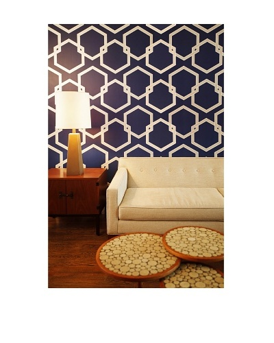 Tempaper Designs Honeycomb Self-Adhesive Temporary Wallpaper [Deep Blue]