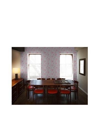 Tempaper Designs Peonies Self-Adhesive Temporary Wallpaper [Rouge]