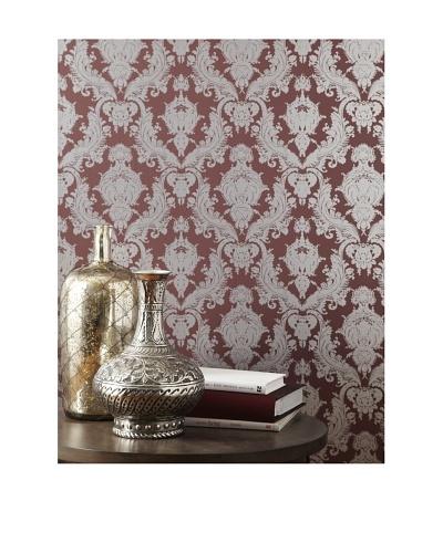 Tempaper Designs Damsel Self-Adhesive Temporary Wallpaper [Silver Plum]