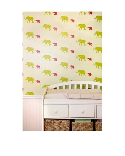 Tempaper Designs Tusk Self-Adhesive Temporary Wallpaper, [Flamingo Pink]