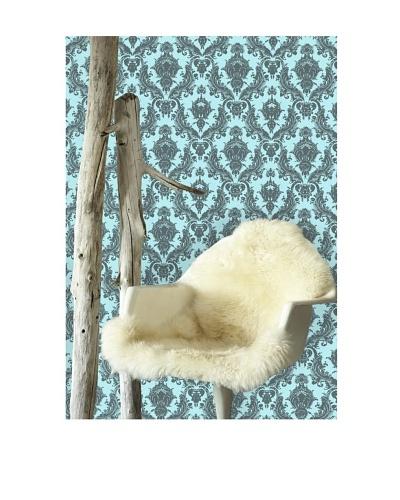 Tempaper Designs Damsel Self-Adhesive Temporary Wallpaper, [Aqua/Grey]