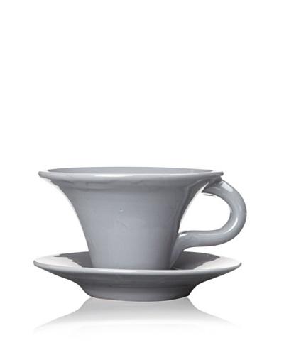 Terafeu Terafour 6.5-Oz. Tea Cup and Saucer [Grey]