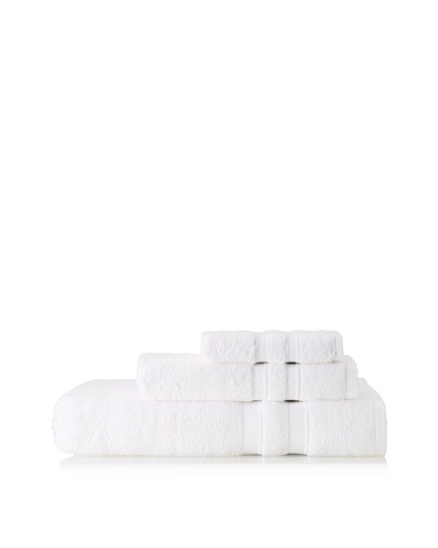 Terrisol Microcotton Suite Platinum 3-Piece Towel Set, White