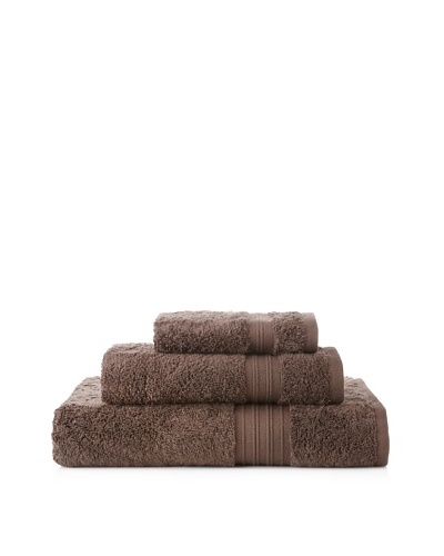 Terrisol 3-Piece Supima Cotton Towel Set, Chocolate