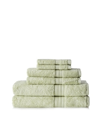 Terrisol Cotton/Rayon from Bamboo 6-Piece Towel, Grass