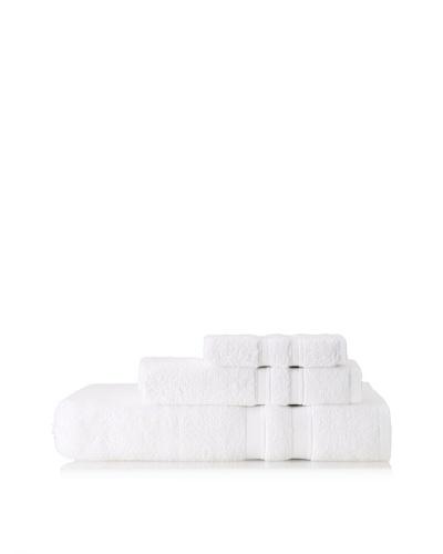 Terrisol Microcotton Suite Platinum 3-Piece Towel Set, White