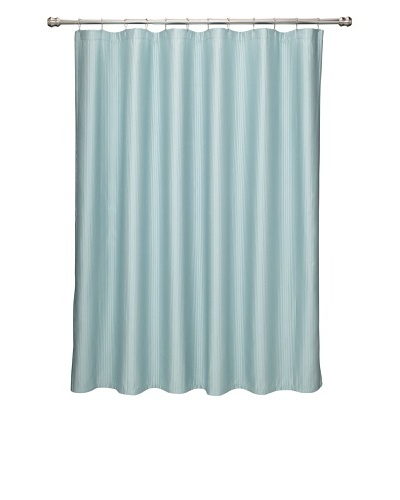 Terrisol Matelassé Ottoman Ribbed Shower Curtain