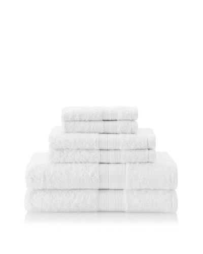 Terrisol 6-Piece Towel Set, White