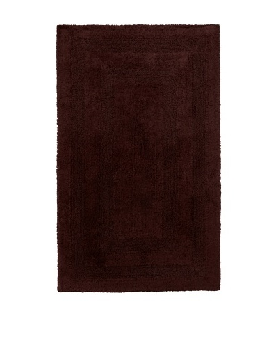 Terrisol Extra Large Reversible Cotton Bath Rug [Chocolate]