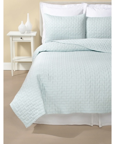 Terrisol Quilted Brick Coverlet Set [Sky]