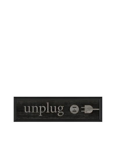 The Artwork Factory Unplug Framed Giclée, Black