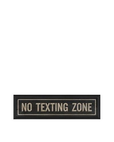 The Artwork Factory No Texting Zone Framed Giclée
