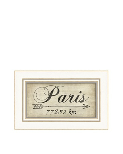The Artwork Factory Paris 778Km Framed Giclée