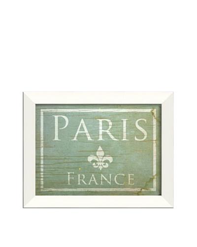 The Artwork Factory Paris Framed Giclée, Blue