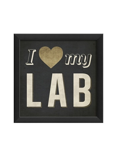 The Artwork Factory I Heart My Lab Framed Giclée