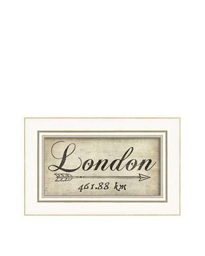 The Artwork Factory London 461Km Framed Giclée