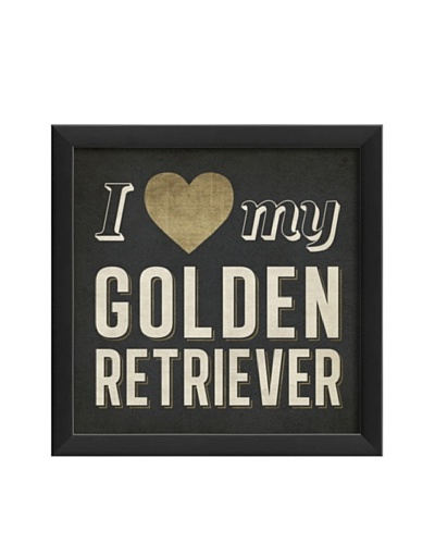The Artwork Factory I Heart My Golden Retriever Framed Giclée