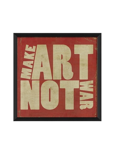 The Artwork Factory Make Art Not War Framed Giclée, Red