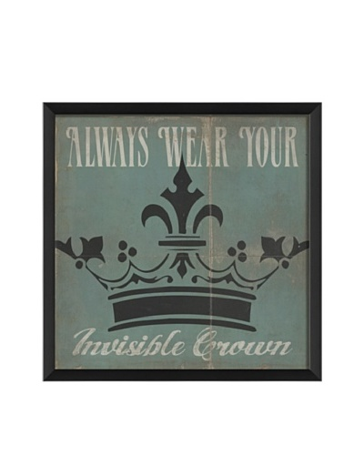 The Artwork Factory Always Wear Your Invisible Crown Framed Giclée