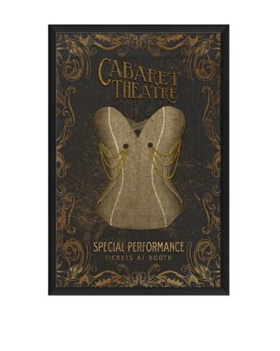 The Artwork Factory Cabaret Theatre Corset Framed Giclée