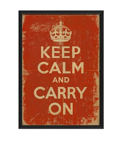 The Artwork Factory Keep Calm and Carry On Framed Giclée
