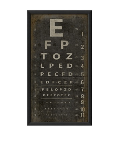 The Artwork Factory Eye Chart Framed Giclée
