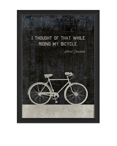 The Artwork Factory Bicycle Einstein Framed Giclée, Black