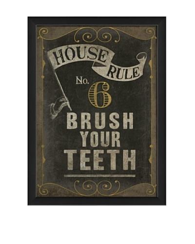 The Artwork Factory Brush Your Teeth Framed Giclée