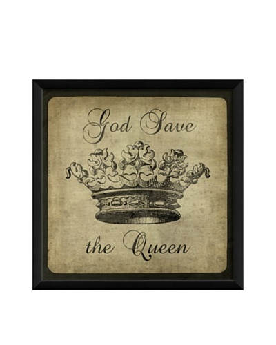 The Artwork Factory God Save the Queen Framed Giclée