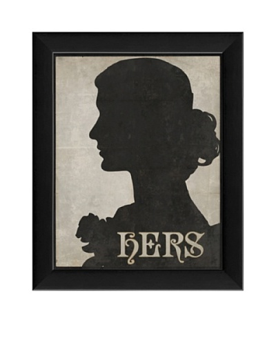 The Artwork Factory Hers Silhouette Framed Giclée
