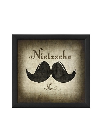 The Artwork Factory Nietzsche Moustache Framed Giclée