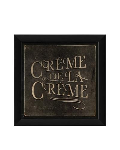 The Artwork Factory French Phrase Crème de La Crème Framed Giclée