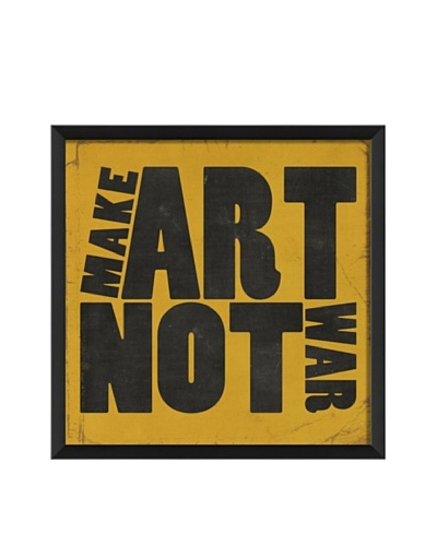The Artwork Factory Make Art Not War Framed Giclée, Yellow