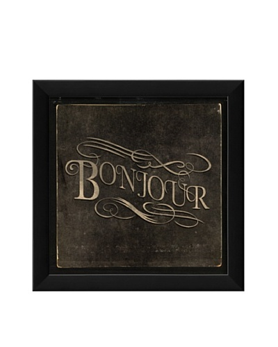 The Artwork Factory French Phrase Bonjour Framed Giclée